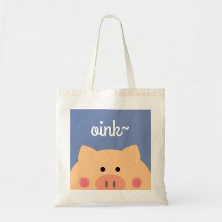 Piggy Face Tote Bag