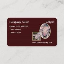 Piggy farm business card