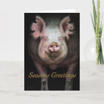 Piggy greetings holiday card