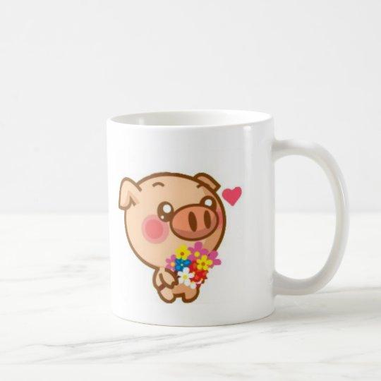 Piggy in Love Coffee Mug