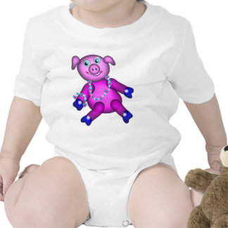 Piggy in Pink PJs, on Baby Tee Shirts
