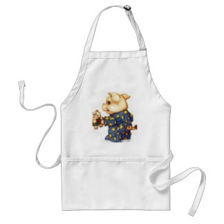 piggy in pjs adult apron