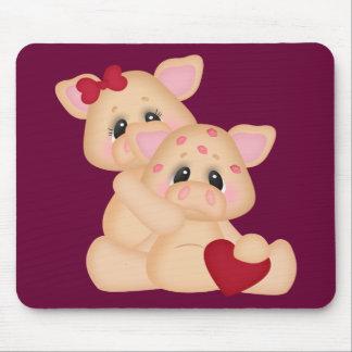 Piggy Kisses Mouse Pad