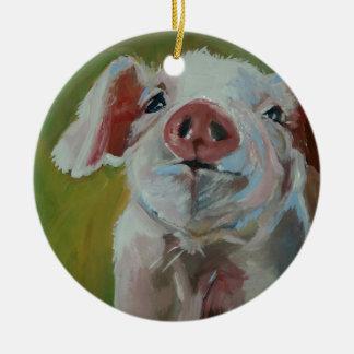 Piggy Little Ceramic Ornament