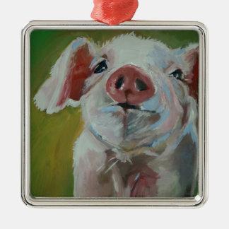 Piggy Little Metal Ornament