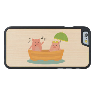 Piggy Love Ship Carved® Maple iPhone 6 Case