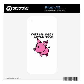 Piggy Loves You Skin For The iPhone 4