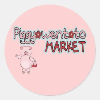 Piggy Market Classic Round Sticker