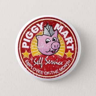 Piggy Mart Employee of The Month Vintage Pin