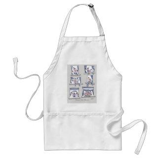 piggy matchday blues adult apron