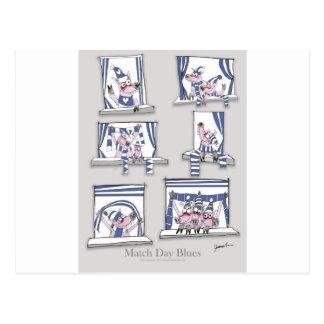 piggy matchday blues postcard