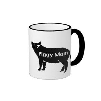 Piggy Mom Ringer Coffee Mug