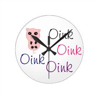 Piggy Oink Oink Wall Clock