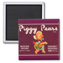 Piggy Pears Magnet