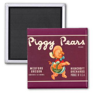 Piggy Pears Refrigerator Magnets