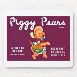 Piggy Pears Mouse Pad