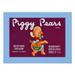 Piggy Pears Poster