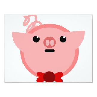 piggy pig 4.25x5.5 paper invitation card