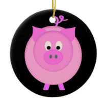 Piggy Pig Ceramic Ornament