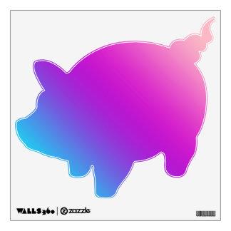 Piggy Pig Decals  - Blues, Purples, Pinks Room Graphics