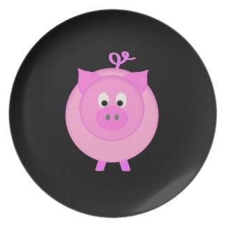 Piggy Pig Dinner Plate