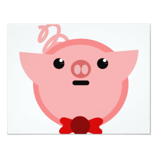 piggy pig invitation