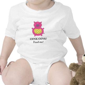 Piggy Pig shirt for baby girls