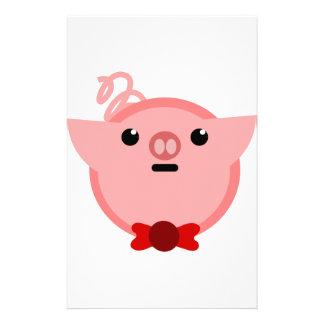 piggy pig stationery