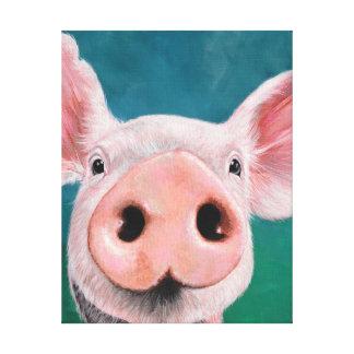 Piggy Piggy Canvas Print