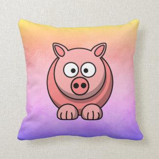 Piggy Piglet Little Pink Pig Cute Pastel Throw Pillow