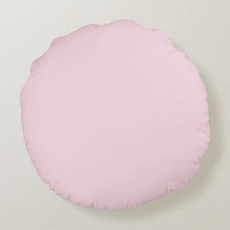 Piggy Pink Solid Color Round Pillow