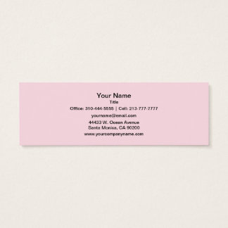 Piggy Pink Solid Color Mini Business Card