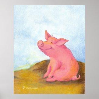 Piggy Pinkles / Artist Print print