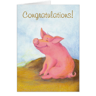 Piggy Pinkles / Congratulations Greeting Card