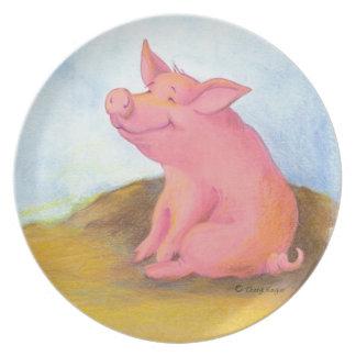 Piggy Pinkles/Plate Melamine Plate