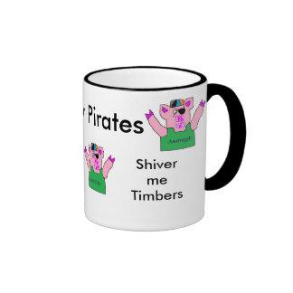 Piggy Pirates talk Mug. Ringer Mug