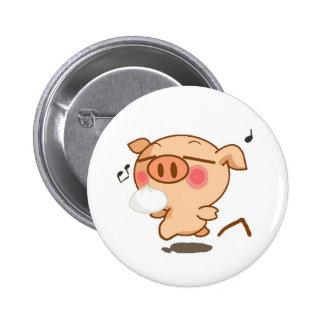 Piggy Pirouettes Buttons