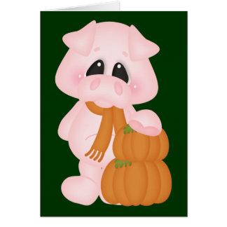 Piggy & Pumpkins Card