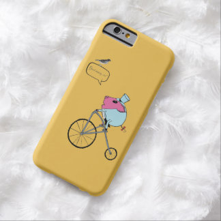 PiGgy riding a penny-farthing Barely There iPhone 6 Case
