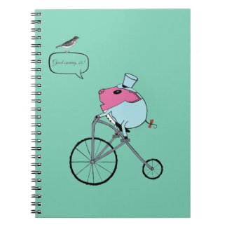 PiGgy riding a penny-farthing Notebook