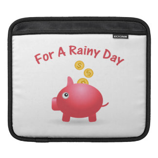 Piggy Saving For A Rainy Day Sleeve For iPads
