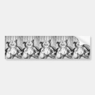Piggy Stuffed Animal Charcoal Drawing Bumper Sticker