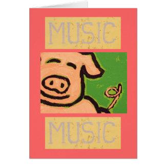 piggy tail rhythm card