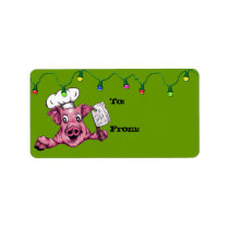 Piggy The Hamicidal Maniac Art Christmas Gift Tags