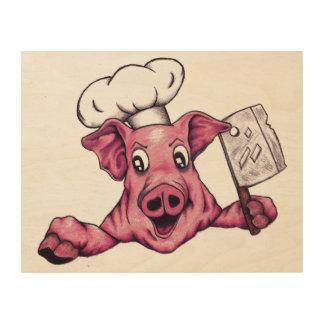 Piggy The Hamicidal Maniac Original Art Wood Print