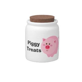 Piggy Treats Jar Candy Dishes