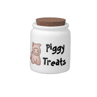 Piggy Treats Jar Candy Jar
