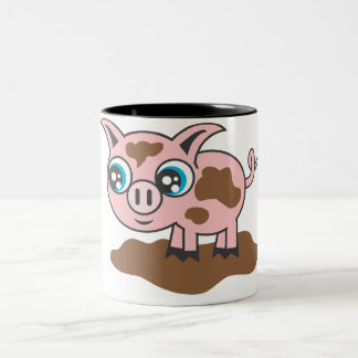 Piggy Two-Tone Coffee Mug