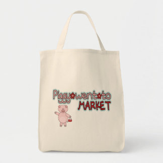 Piggy Went To Market Grocery Tote Bag