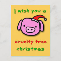 Piggy xmas holiday postcard